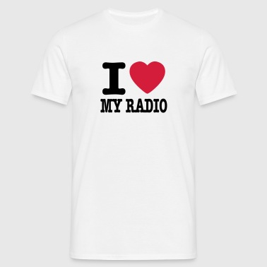 i love my radio / I heart my radio - T-shirt herr