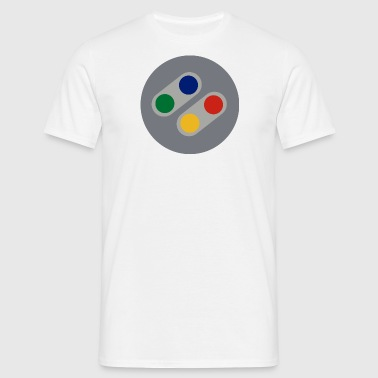 Retro SNES Buttons - Men's T-Shirt