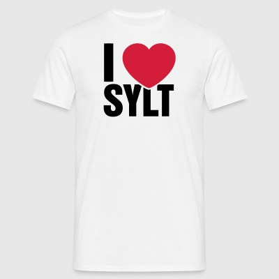 I love Sylt - Men's T-Shirt