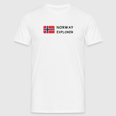 NORWAY EXPLORER black-lettered - Männer T-Shirt