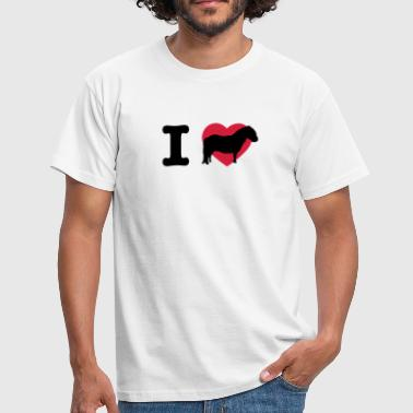 I love ponies I love Shetty I love horses I heart horses - Men's T-Shirt