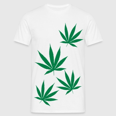 weed leaf - Men's T-Shirt