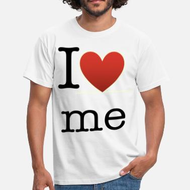 I Love Me blackheart - Men's T-Shirt