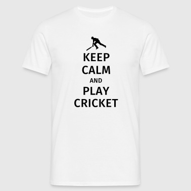keep calm and play cricket - Men's T-Shirt
