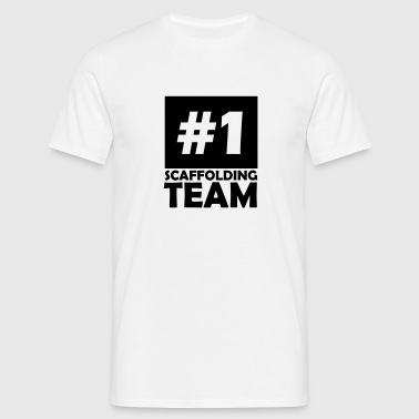 number one scaffolding team - Men's T-Shirt