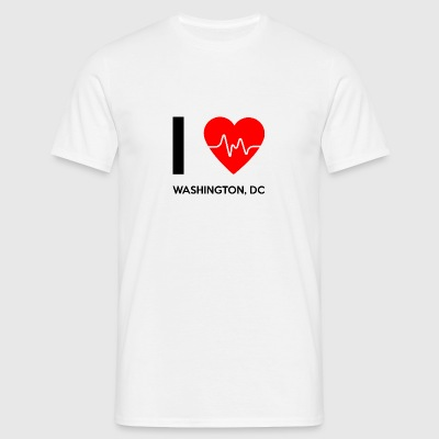 J'aime Washington DC - I Love Washington DC - T-shirt Homme