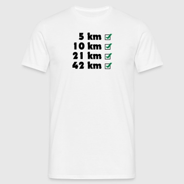 Marathon Checklist - Men's T-Shirt
