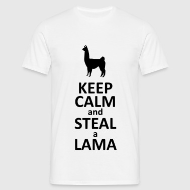 Keep calm and steal a Lama - T-shirt Homme