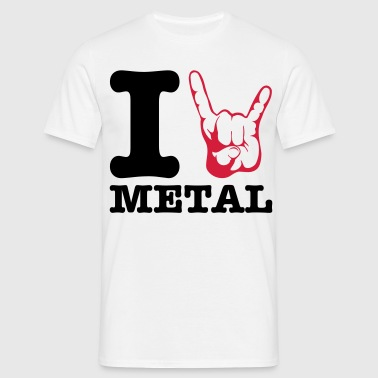 I love Metal! Horns - Men's T-Shirt