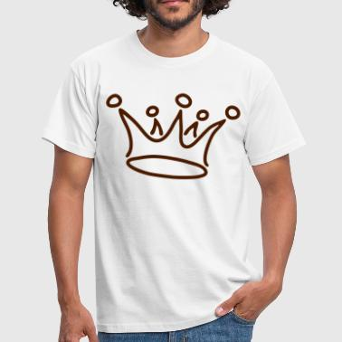 Krone, graffiti, crown, g1_1c - Männer T-Shirt