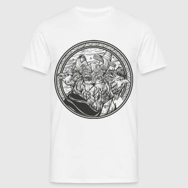 Odin with his ravens - Men's T-Shirt