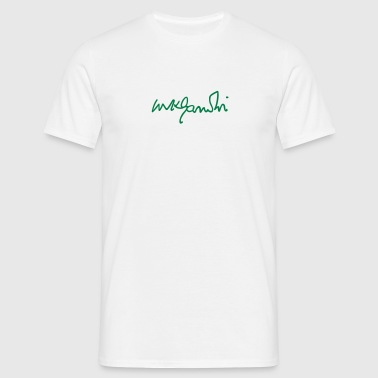 gandhi signature - Men's T-Shirt