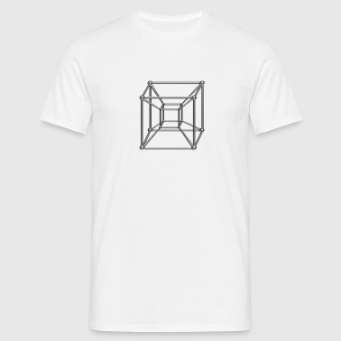 TESSERACT, Hypercube 4D, digital, Symbol - Dimensional Shift, Metatrons Cube, - T-shirt Homme