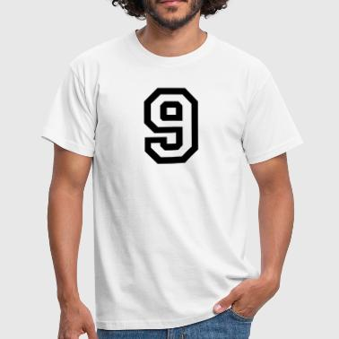 number - 9 - nine - Men's T-Shirt