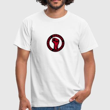 2 colors - Workers Solidarity Movement - Working Class Unity Against Capitalism - Mannen T-shirt