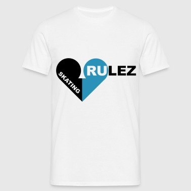 skating rulez 2-colours - Men's T-Shirt