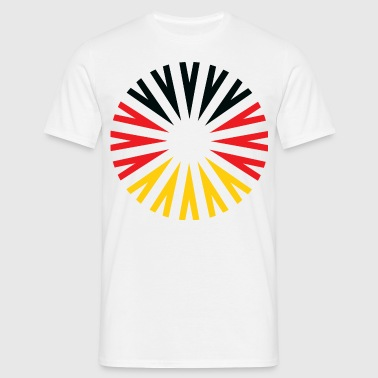Abstract German Ray Flag - Männer T-Shirt