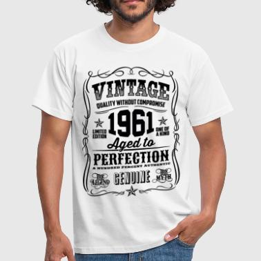 Vintage 1961 Aged to Perfection black - Men's T-Shirt