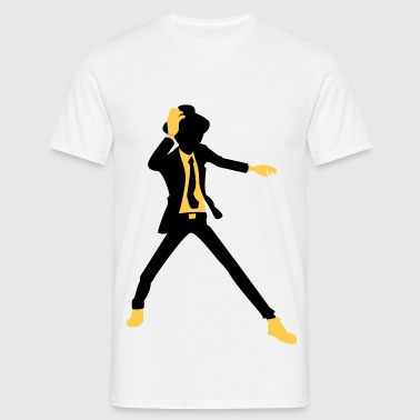 A disco dancer in suit with hat - Men's T-Shirt