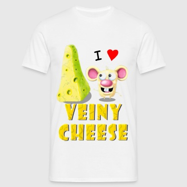 I LOVE Veiny CHEESE! - Men's T-Shirt