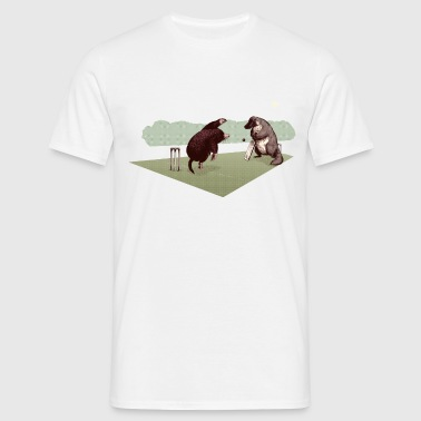 Mole and Platypus cricket - Men's T-Shirt
