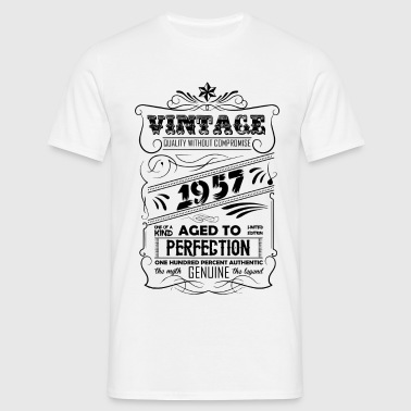 Vintage Aged To Perfection 1957 - Men's T-Shirt