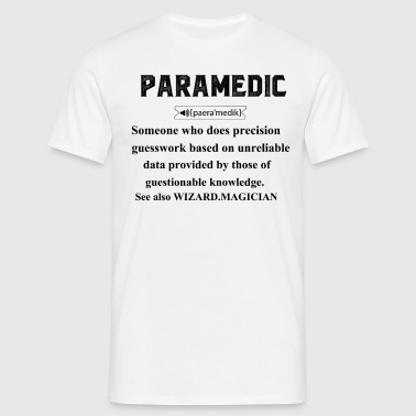 Paramedic Definition Funny - Men's T-Shirt