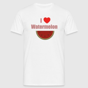 I love watermelon. - T-shirt Homme
