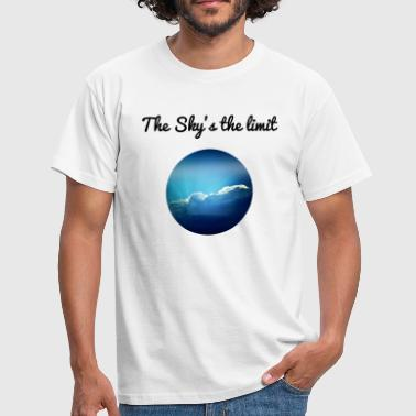The sky is the limit - Männer T-Shirt