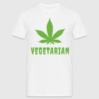 Vegetarian Pot Leaf - Men's T-Shirt