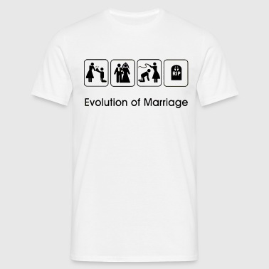 EVOLUTION OF MARRIAGE T-Shirts - Men's T-Shirt