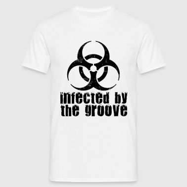 infected by the groove - Men's T-Shirt