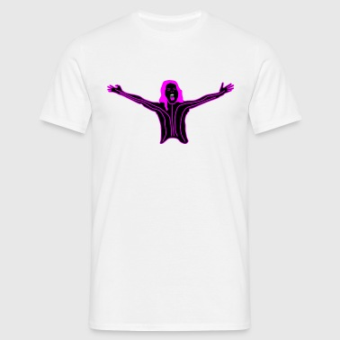 pink lady lines - Men's T-Shirt