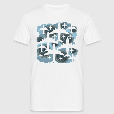 Aircraft turbines and clouds - Men's T-Shirt