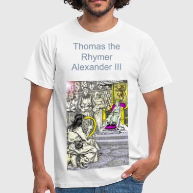 Gaelic Thomas the Rhymer reciting to Malcom III - Men's T-Shirt