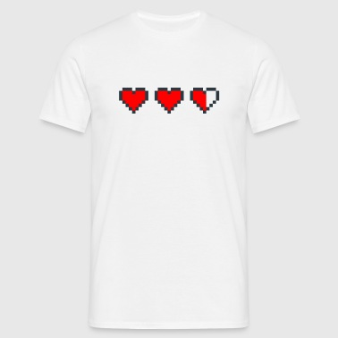 Poiky Geek | Hearts - Men's T-Shirt