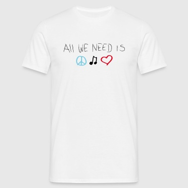 LOVEshirt Peace, love & music - Männer T-Shirt
