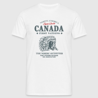 Canada - Indian - Kanada - Indianer - Männer T-Shirt