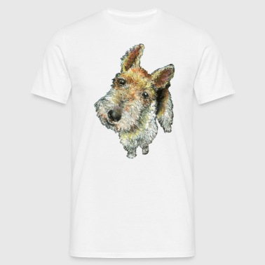 Wire haired fox terrier - Men's T-Shirt