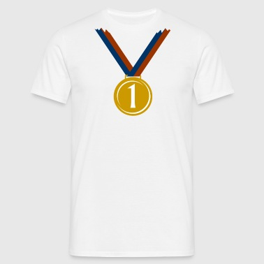Gold medal for first place  - Men's T-Shirt
