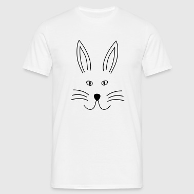 Bunny Face line art - Men's T-Shirt