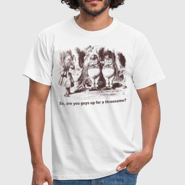 Alice Wants a Threesome - Men's T-Shirt