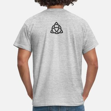 Trinity Triquetra inside Triangle interlaced with Circle - Men's T-Shirt