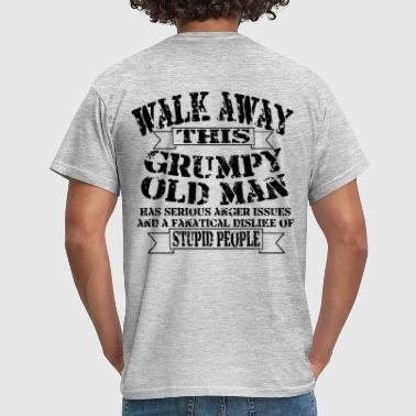 Funny Soccer Grumpy Old Man - Men's T-Shirt