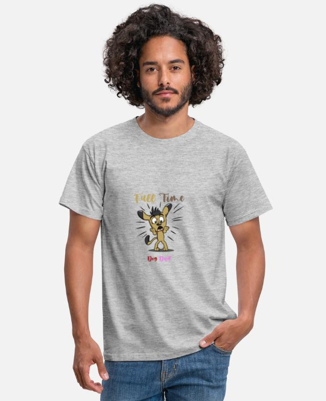 Cute T-Shirts - Full Time Dog Dad - Men's T-Shirt heather grey
