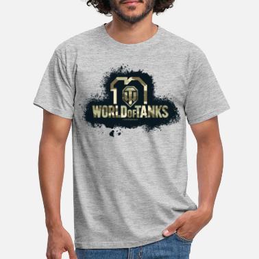 World of Tanks 10th Anniversary Camo Logo - Men's T-Shirt