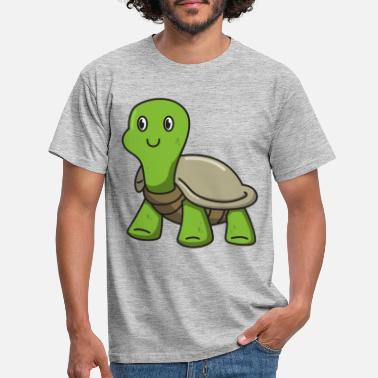 Cartoon Turtle gift animal nature cartoon kids cute - Mannen T-shirt