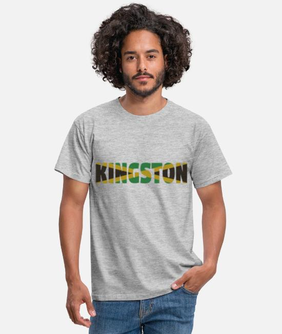 Rasta T-Shirts - Kingston Jamaica - Men's T-Shirt heather grey