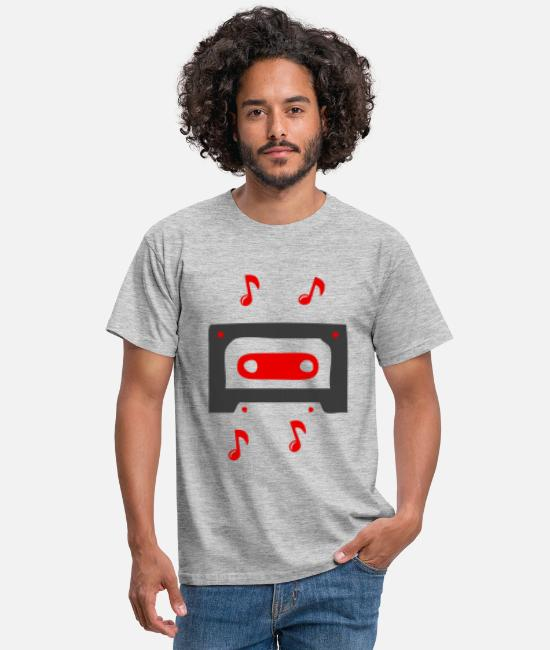 Song T-Shirts - Music sound song cassette according to old school band - Men's T-Shirt heather grey