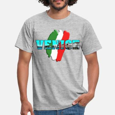 Venice Venice Venice with Italy flag green white red - Men's T-Shirt